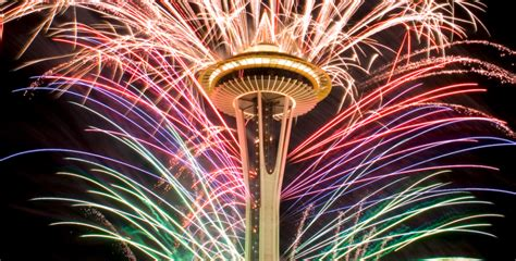 new year celebration in seattle seattle space needle fireworks on new year s to be