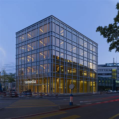 create a building shigeru ban tamedia office building in zurich completed