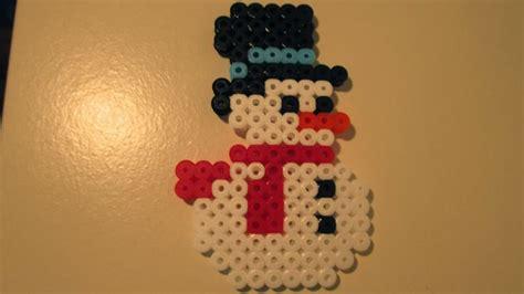hama snowman hama perler snowman perler