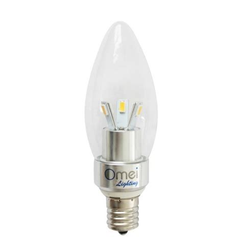 intermediate base led light bulbs dimmable led e17 base 3w daylight white 4000k 4250k bullet