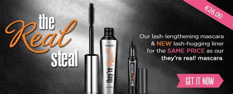 real big steal theyre real lengthening mascara duo benefit benefit make up and cosmetics boots boots