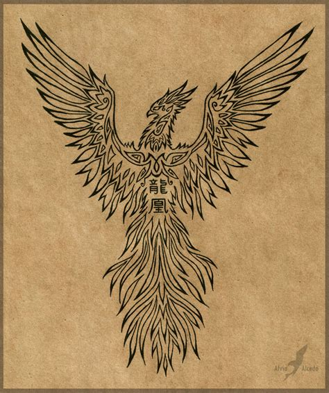 phoenix rising tattoo design rising design by alviaalcedo on deviantart