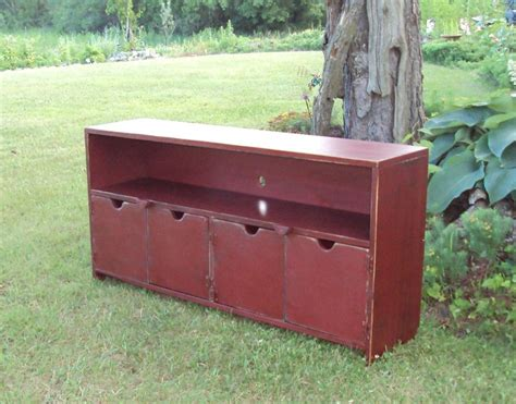 48 inch storage bench 48 inch wide barn red over black shabby chic tv cabinet
