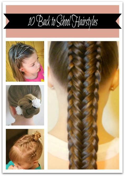 hairstyles hair for school 10 back to school hairstyles