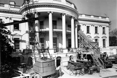 house reconstruction rare look inside president truman s white house