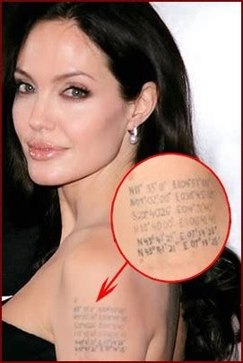 angelina jolie photo angelina jolie khmer tattoo