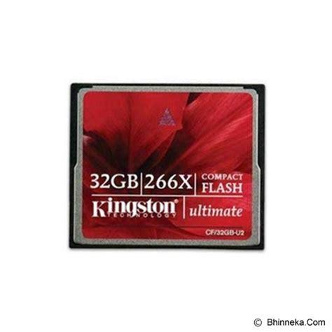 Kingston Compactflash Memory Card Ultimate 266x 45mbs 64gb jual kingston cf ultimate 32gb cf 32gb u2 beli compactflash cf card murah original