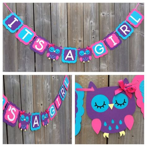 Purple Baby Shower Banner by 1000 Ideas About Owl Banner On Baby Shower