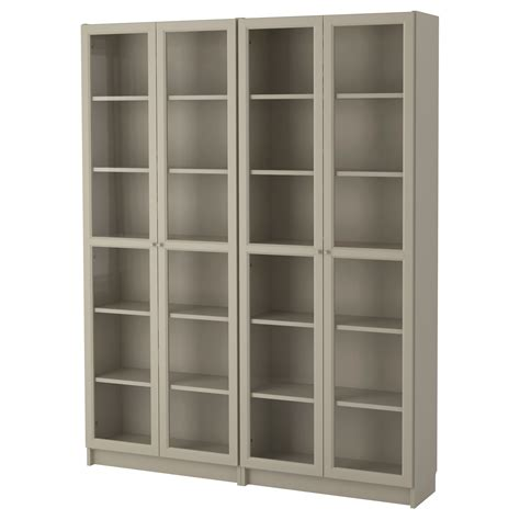 billy oxberg bookcase beige 160x202x30 cm ikea