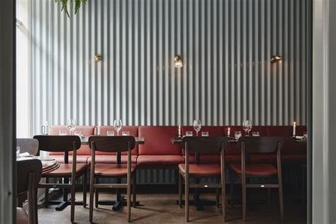 creatively  corrugated metal panels  home
