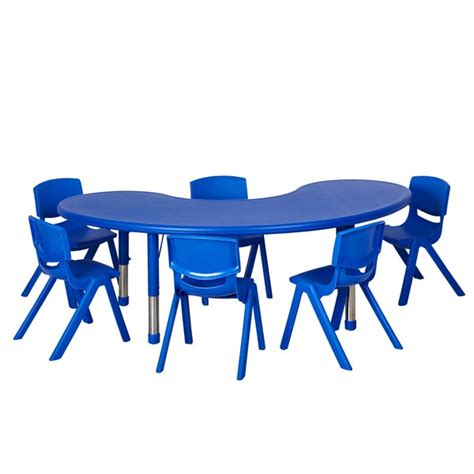preschool table and chair height ecr4kids six 12 quot plastic resin chairs with one plastic