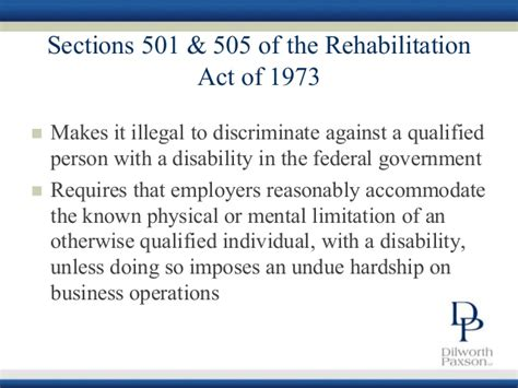 section 501 of the rehabilitation act of 1973 eeo compliance how to avoid discrimination in the workplace
