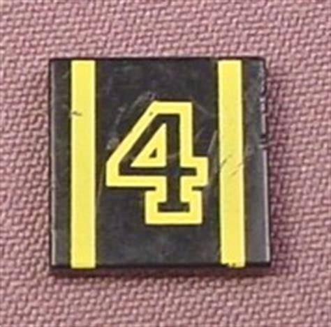 Set Part 2x2 Yellow lego 3068bp04 black 2x2 tile with yellow 4 stripes pattern 6510 racers parts with patterns