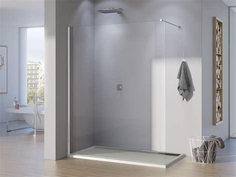 duschabtrennung feststehend freistehende duschwand glas 150 x 200 cm duschabtrennung