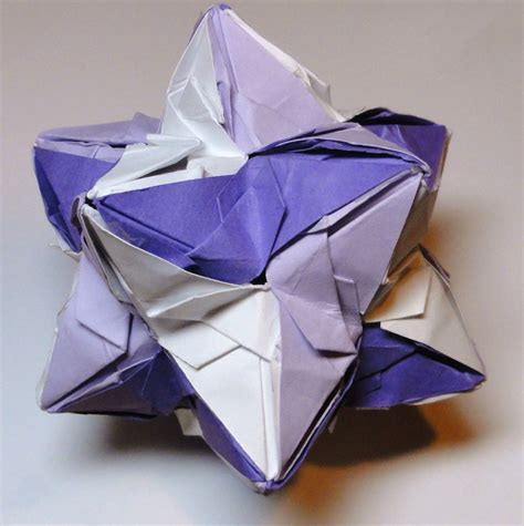 Origami Net - origami stellated dodecahedron by pecatrix on deviantart