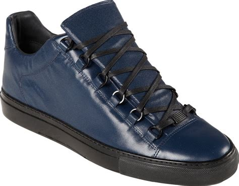 balenciaga blue sneakers balenciaga arena hightop sneakers in blue for lyst