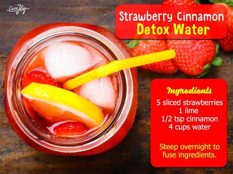 Strawberry Lime Cinnamon Detox Water by Musely