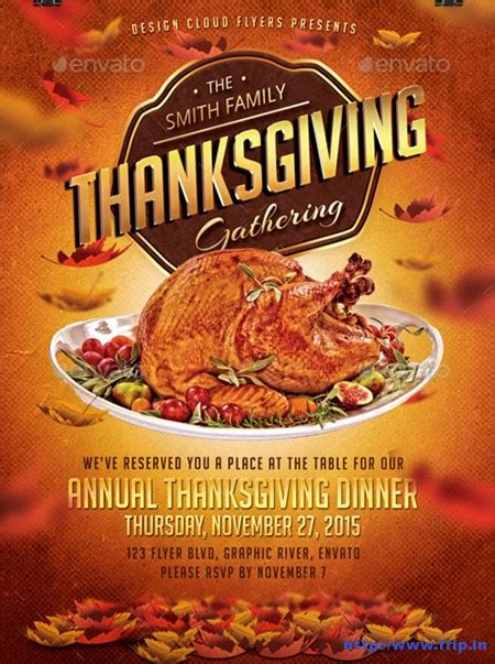 Thanksgiving Dinner Flyer Templates For Free Happy Easter Thanksgiving 2018 Thanksgiving Flyer Template Free