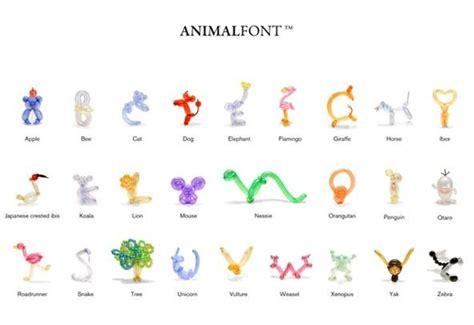 printable balloon animal instructions animal balloon font 171 make balloon animals