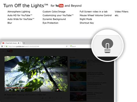 turn off the lights youtube turn off the lights for youtube and beyond add ons for