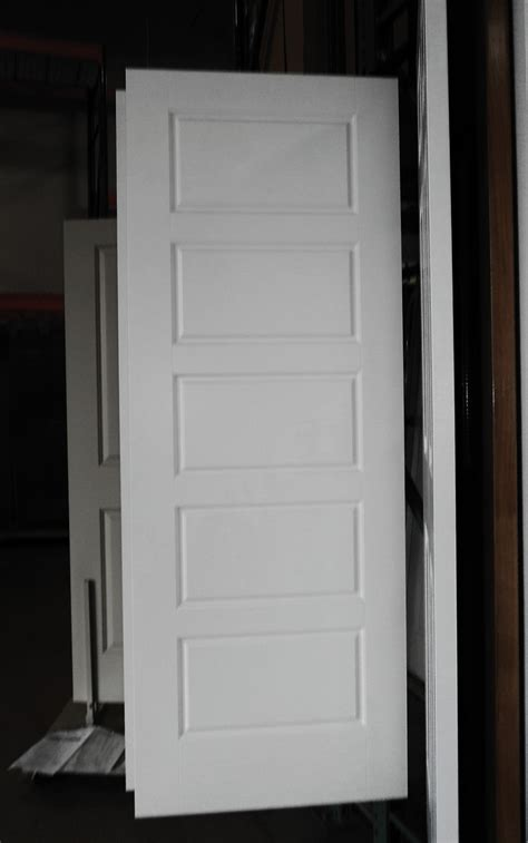 Interior Hollow Doors 5 Panel Painted White Riverside Smooth Masonite Hollow