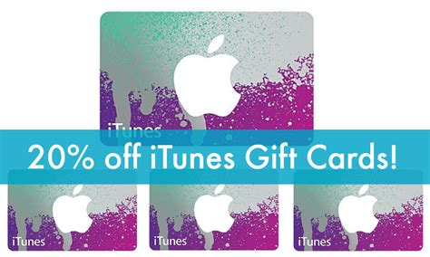 Itunes Gift Cards 20 Off - cyber monday itunes gift card deals sale 20 off