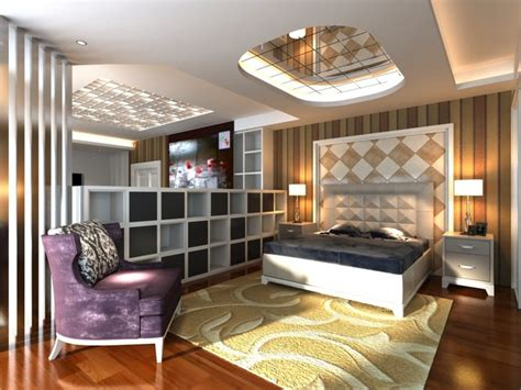 eminent bedroom with ceiling mirror 3d cgtrader