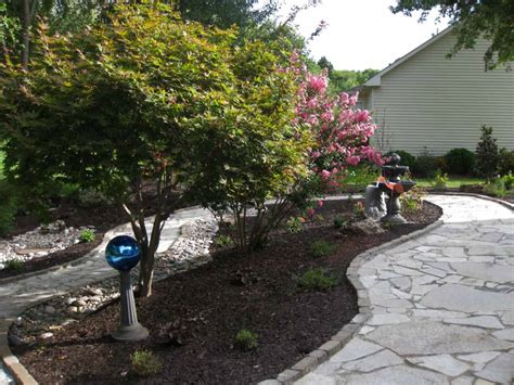 top 28 flagstone concrete st flagstone stairs staircase traditional with deciduous trees