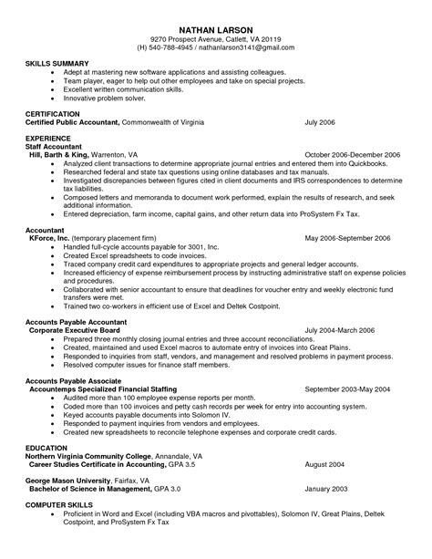 resume format templates resume templates open office sle resume cover letter