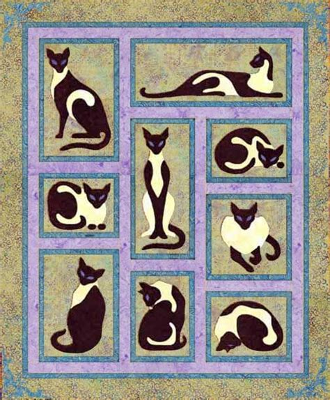 Applique Cat Quilt Patterns by 427 Best Cat Pattern Quilts Images On Cats