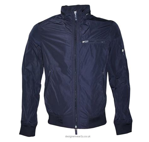 bomber jacket armani navy bomber jacket jackets from designerwear2u uk
