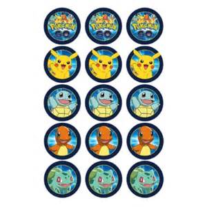 pokemon edible icing cupcake toppers 15 kids themed party supplies character parties