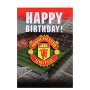manchester united birthday card template manchester united crest birthday card with sound