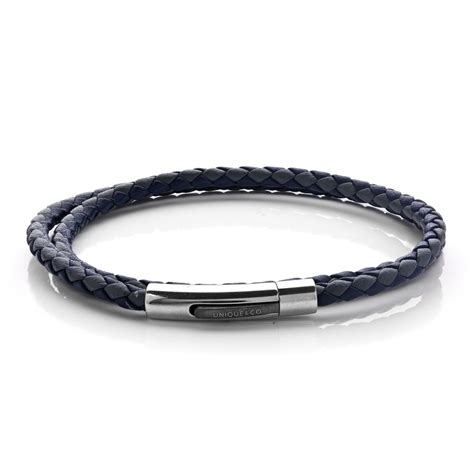 unique mens stainless steel 21cm blue and grey