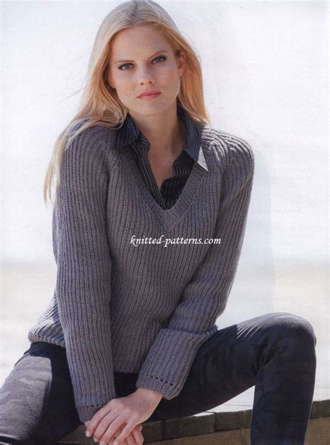 v neck pullover knitting pattern free s pullovers knitting patterns
