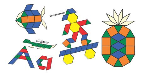Pattern Block Mats by Pattern Block Templates From S Corner Of Cyberspace
