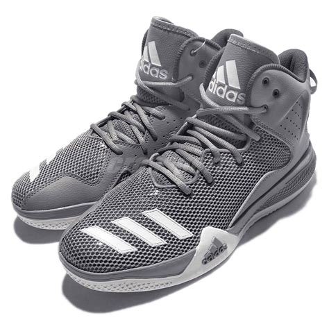 adidas dt bball mid grey white mens basketball shoes sneakers aq7754 ebay