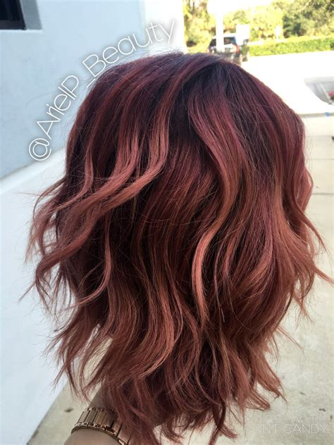 plum colored hair colormelt balayage baliage ombre pink purple plum colored