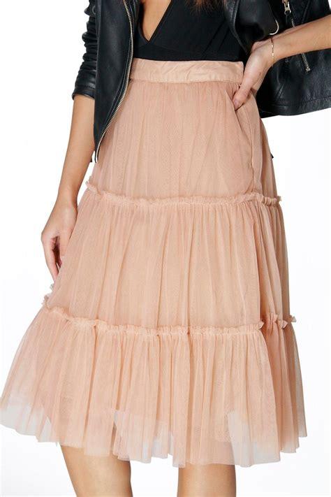 boohoo womens layered tulle midi skirt ebay