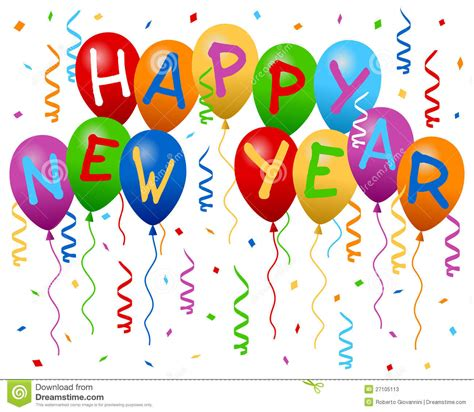 happy new year balloons banner stock vector image 27105113