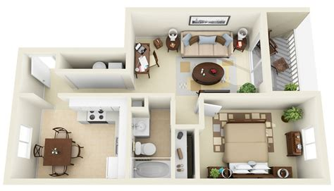 One Bedroom Apts | 50 one 1 bedroom apartment house plans architecture