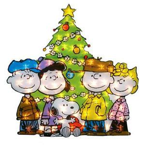 charlie brown gang outdoor lighted peanuts snoopy tree outdoor decor yard display