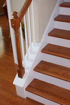 How To Refinish A Banister White Risers For Your Staircase