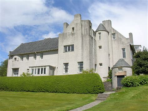 New One Story House Plans Hill House Feature Page On Undiscovered Scotland