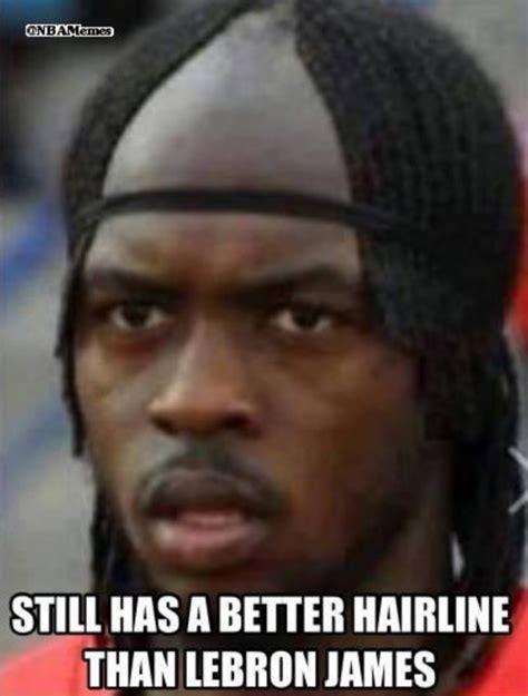 Lebron James Hairline Meme - lean back the 50 meanest lebron james hairline memes of