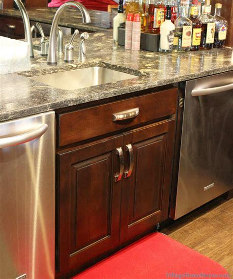 Home Bar With Sink Custom Cherry Bulldogs Bar Home Stores