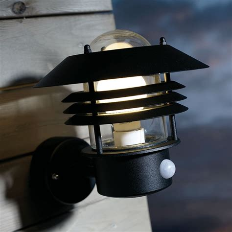 Outdoor Lighting With Pir Vejers Pir Wall L Black Lighting Direct