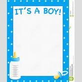 Baby Shower Invite (Boys) Stock Photography - Image: 19629232