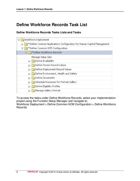 Define Records 17 Define Workforce Records