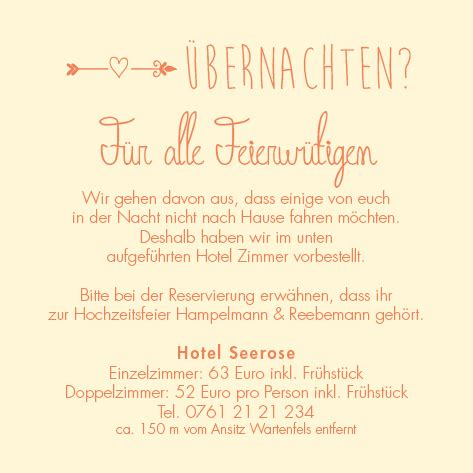 Hochzeitseinladung Informationen by Einlagekarten Schmuckst 252 Ck
